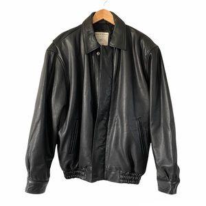 Black Leather Jacket North Ridge Mens Riding Coat